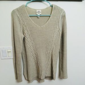 Tan sweater!